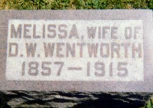 WENTWORTH, MELISSA CAROLINE - Iowa County, Iowa   MELISSA CAROLINE WENTWORTH