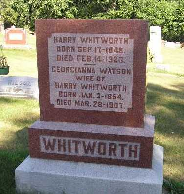 WATSON WHITWORTH, GEORGIANNA - Iowa County, Iowa | GEORGIANNA WATSON WHITWORTH