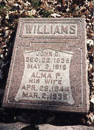 WILLIAMS, ALMA P. - Iowa County, Iowa | ALMA P. WILLIAMS