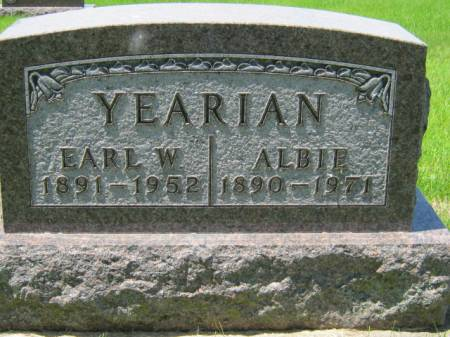 YEARIAN, EARL W - Iowa County, Iowa | EARL W YEARIAN