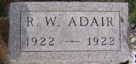 ADAIR, R.W. - Jackson County, Iowa   R.W. ADAIR