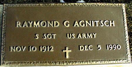 AGNITSCH, RAYMOND G. - Jackson County, Iowa | RAYMOND G. AGNITSCH