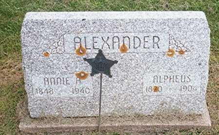 ALEXANDER, ANNIE A. - Jackson County, Iowa   ANNIE A. ALEXANDER