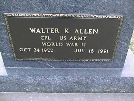 ALLEN, WALTER K. - Jackson County, Iowa | WALTER K. ALLEN