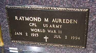AUREDEN, RAYMOND M. - Jackson County, Iowa | RAYMOND M. AUREDEN