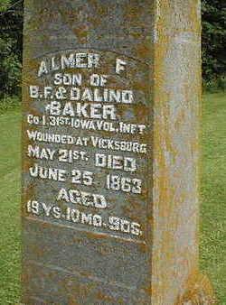 BAKER, ALMER F. - Jackson County, Iowa   ALMER F. BAKER