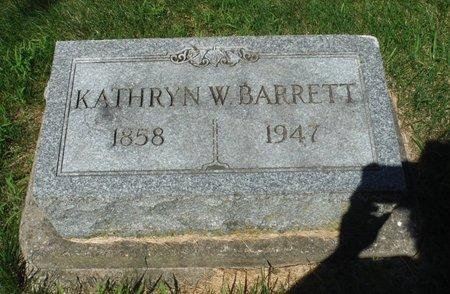 BARRETT, KATHRYN W. - Jackson County, Iowa   KATHRYN W. BARRETT
