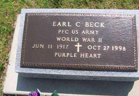 BECK, EARL C. - Jackson County, Iowa   EARL C. BECK