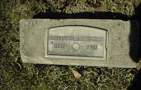 BECK, FRANCES - Jackson County, Iowa | FRANCES BECK