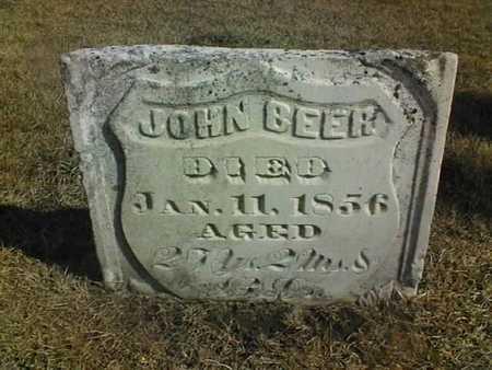 BEER, JOHN - Jackson County, Iowa   JOHN BEER