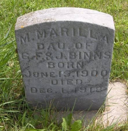 BINNS, M. MARILLA - Jackson County, Iowa   M. MARILLA BINNS