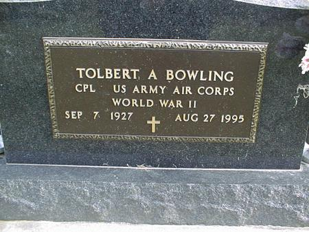 BOWLING, TOLBERT A. - Jackson County, Iowa | TOLBERT A. BOWLING