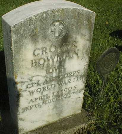 BOWMAN, GROVER - Jackson County, Iowa | GROVER BOWMAN