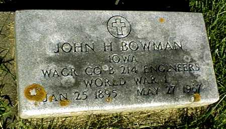 BOWMAN, JOHN H. - Jackson County, Iowa | JOHN H. BOWMAN