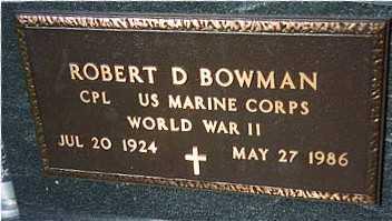 BOWMAN, ROBERT D. - Jackson County, Iowa | ROBERT D. BOWMAN