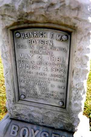 BOYSEN, HEINRICH F.M. - Jackson County, Iowa   HEINRICH F.M. BOYSEN
