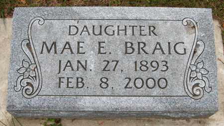 BRAIG, MAE E. - Jackson County, Iowa | MAE E. BRAIG