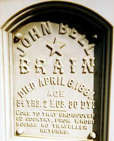 BRAIN, JOHN BELL - Jackson County, Iowa | JOHN BELL BRAIN