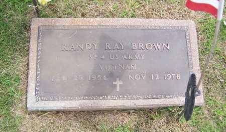 BROWN, RANDY RAY - Jackson County, Iowa   RANDY RAY BROWN