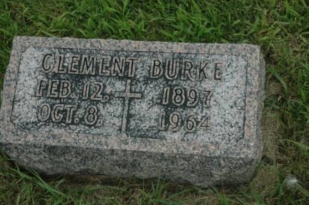 BURKE, CLEMENT - Jackson County, Iowa   CLEMENT BURKE