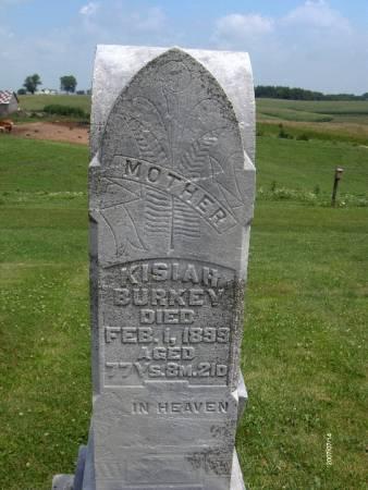 BURKEY, KISIAH - Jackson County, Iowa   KISIAH BURKEY