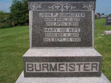 BURMEISTER, MARY - Jackson County, Iowa   MARY BURMEISTER