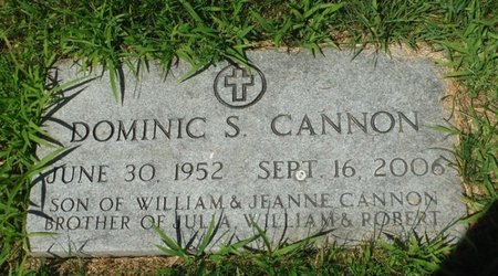 CANNON, DOMINIC S. - Jackson County, Iowa | DOMINIC S. CANNON