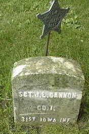 CANNON, SGT. JOHN L. - Jackson County, Iowa   SGT. JOHN L. CANNON
