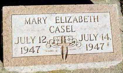 CASEL, MARY ELIZABETH - Jackson County, Iowa | MARY ELIZABETH CASEL