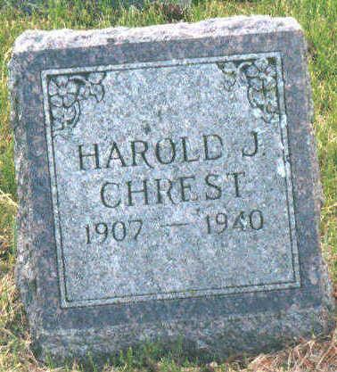 CHREST, JOHN 'HAROLD' - Jackson County, Iowa | JOHN 'HAROLD' CHREST