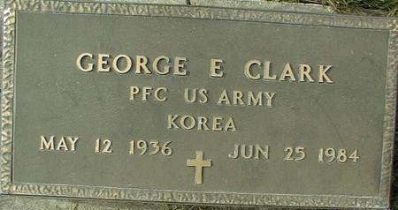 CLARK, GEORGE E. - Jackson County, Iowa   GEORGE E. CLARK