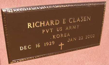 CLASEN, RICHARD E. - Jackson County, Iowa | RICHARD E. CLASEN