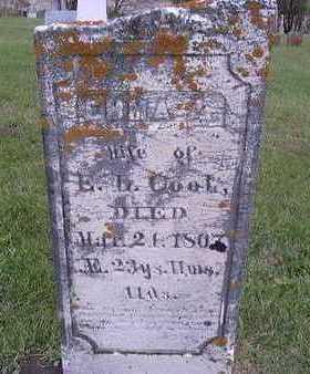 COOK, EMMA ADELIA - Jackson County, Iowa | EMMA ADELIA COOK
