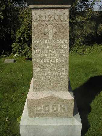 COOK, MAGDELENA - Jackson County, Iowa | MAGDELENA COOK