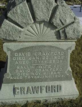 CRAWFORD, SALLIE - Jackson County, Iowa   SALLIE CRAWFORD