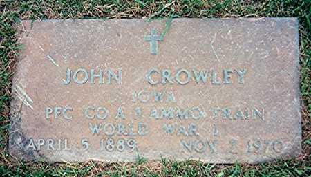 CROWLEY, JOHN - Jackson County, Iowa   JOHN CROWLEY