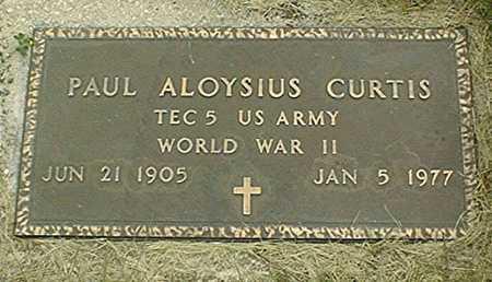 CURTIS, PAUL ALOYSIUS - Jackson County, Iowa | PAUL ALOYSIUS CURTIS