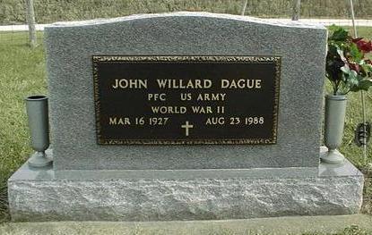 DAGUE, JOHN WILLARD - Jackson County, Iowa | JOHN WILLARD DAGUE