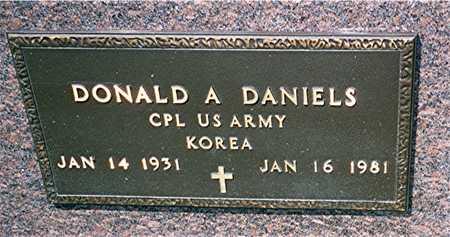 DANIELS, CPL DONALD A. - Jackson County, Iowa | CPL DONALD A. DANIELS