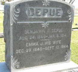 DEPUE, BENJAMIN FRANKLIN - Jackson County, Iowa | BENJAMIN FRANKLIN DEPUE