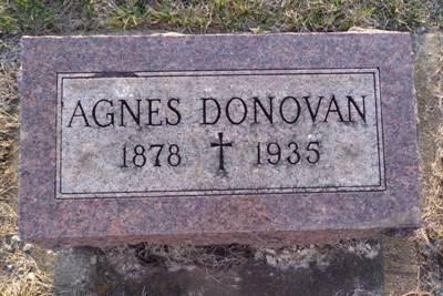 DONOVAN, AGNES - Jackson County, Iowa | AGNES DONOVAN