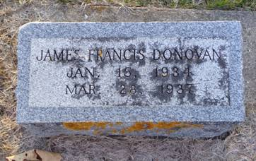 DONOVAN, JAMES FRANCIS - Jackson County, Iowa | JAMES FRANCIS DONOVAN