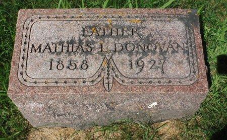 DONOVAN, MATHIAS L. - Jackson County, Iowa   MATHIAS L. DONOVAN