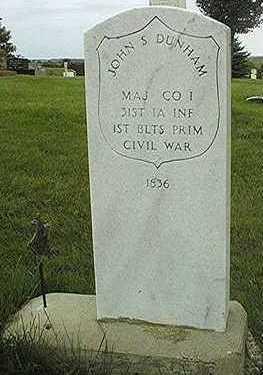 DUNHAM, MAJOR JOHN S. - Jackson County, Iowa   MAJOR JOHN S. DUNHAM