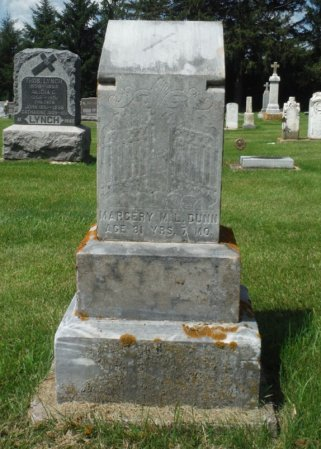DUNN, MARGERY M. L. - Jackson County, Iowa   MARGERY M. L. DUNN