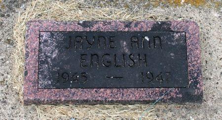 ENGLISH, JAYNE ANN - Jackson County, Iowa | JAYNE ANN ENGLISH