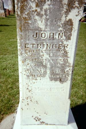 ETRINGER, JOHN - Jackson County, Iowa | JOHN ETRINGER