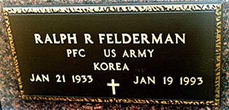 FELDERMAN, RALPH R. - Jackson County, Iowa | RALPH R. FELDERMAN