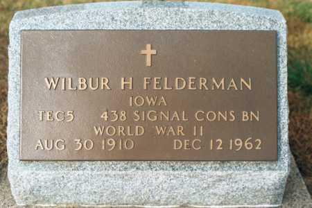 FELDERMAN, WILBUR H. - Jackson County, Iowa | WILBUR H. FELDERMAN