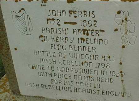 FERRIS, JOHN - Jackson County, Iowa   JOHN FERRIS